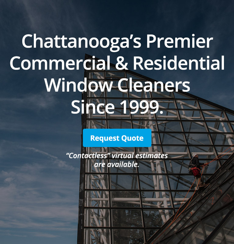 commercial high rise window cleaning chattanooga business office window washers